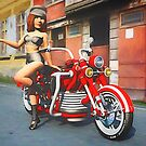 Biker Babe by kenmo
