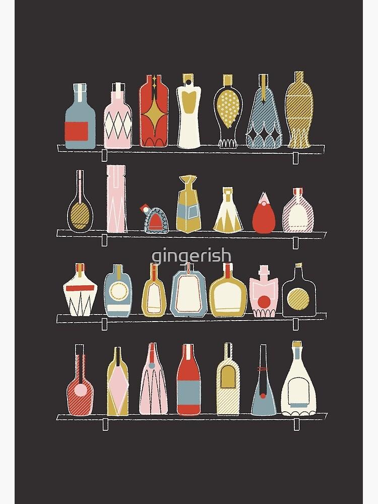Mid Century Bottles by gingerish