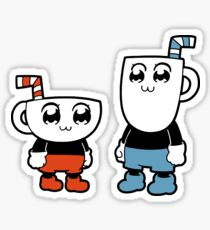 Cupuko and Pipimug (Cuphead) Sticker