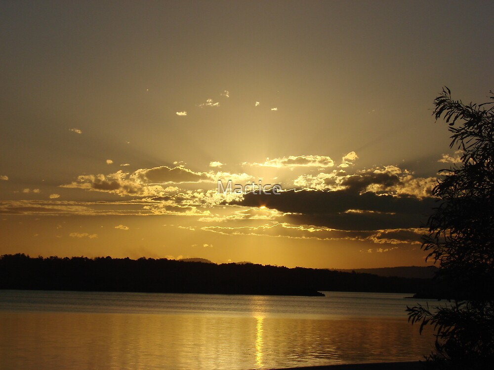 Golden Ray Sunset by Martice