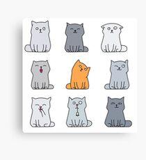 Nine cute kittens Canvas Print
