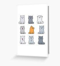 Nine cute kittens Greeting Card