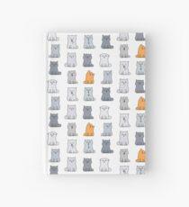 Nine cute kittens Hardcover Journal