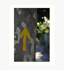 Arrows guide the way on the Camino de Santiago Art Print
