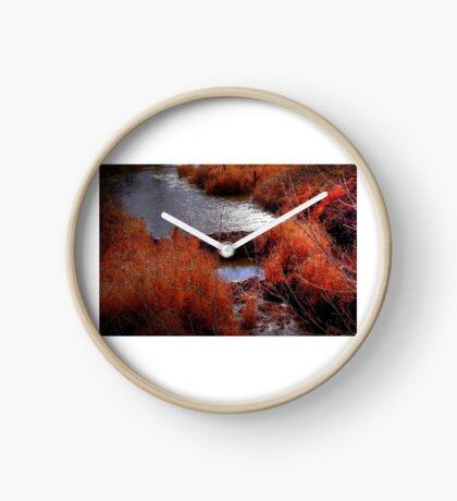 Autumn Grasses  Clock