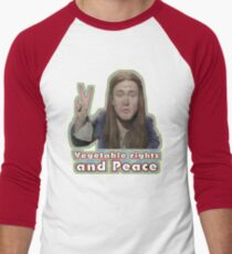 Vegetable Rights Peace The Young Ones Baseball ¾ Sleeve T-Shirt