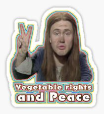Vegetable Rights Peace The Young Ones Sticker