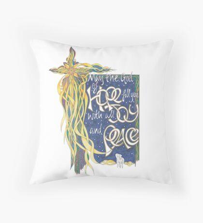 God of Hope Throw Pillow