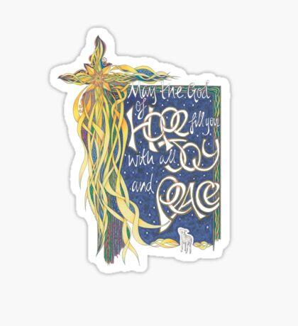 God of Hope Sticker