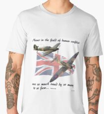 Never in the Field of Human Conflict... Men's Premium T-Shirt
