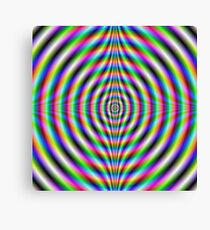 Psychedelic Neon Eye Canvas Print