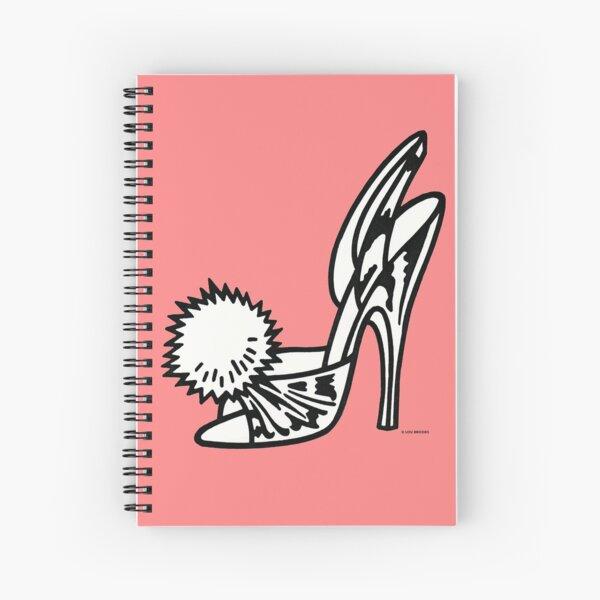 Peek-a-boo Boudoir Slipper Spiral Notebook