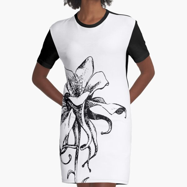 Artist Sketch Sunflower Drawing In Black And White Graphic T Shirt Dress By Melissapedersen Redbubble