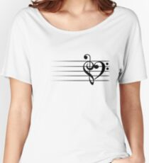 Music Heart Women's Relaxed Fit T-Shirt