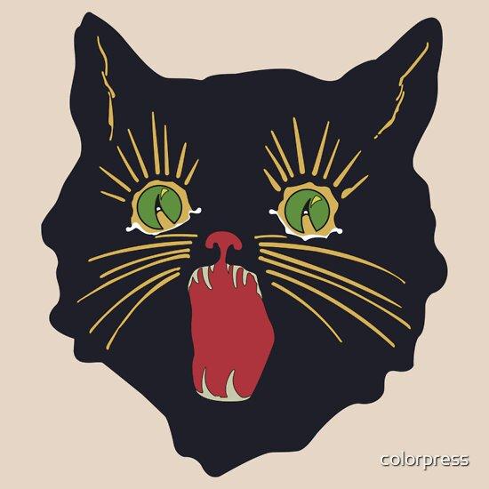 TShirtGifter presents: 6o's halloween cat design