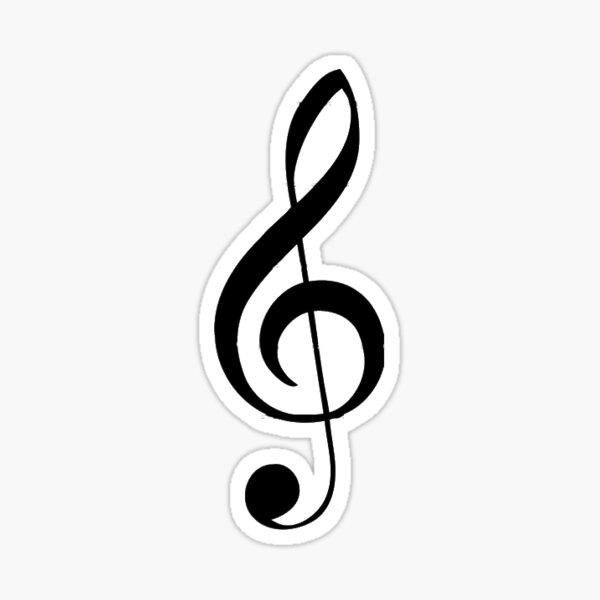 Treble Clef Musical Note Sticker