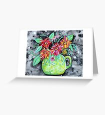 Festival Flowers Greeting Card