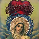 Virgin Mary with the Sacred Heart of Jesus by dennisjordan