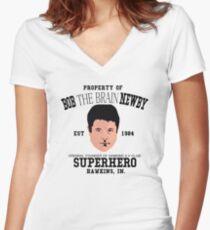 Stranger things 2 - Bob The Brain Newby - Super hero Women's Fitted V-Neck T-Shirt