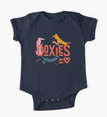 Doxies are Love Short Sleeve Baby One-Piece