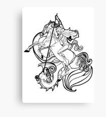 SLAY YOUR DRAGONS, sticker Canvas Print
