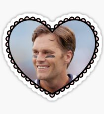Patriots Tom Brady Heart Sticker