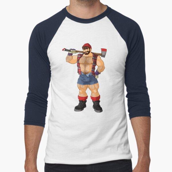 ADAM LIKES LUMBERJACKS Baseball ¾ Sleeve T-Shirt