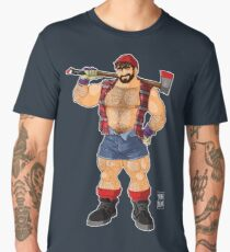 ADAM LIKES LUMBERJACKS Men's Premium T-Shirt