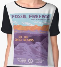 Vintage Travel Poster - Fossil Freeway Women's Chiffon Top