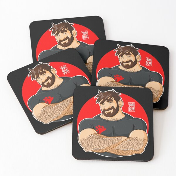 ADAM LIKES CROSSING ARMS Coasters (Set of 4)