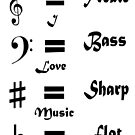 I ♥ Music (Style #1 Black on Light) by C J Lewis