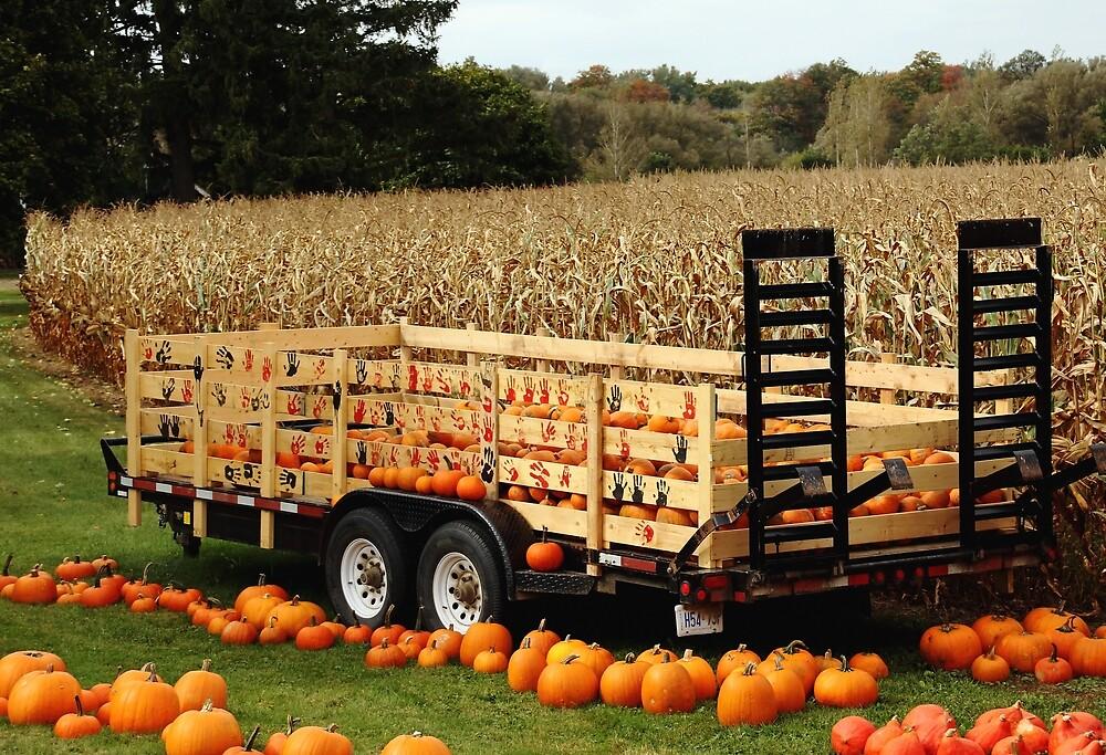 Give Thanks Pumpkin Wagon by Debbie Oppermann