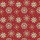Christmas Snowflake Pattern (Red) by KristyKate
