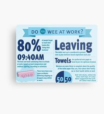 Wee at Work Infographic  Metal Print