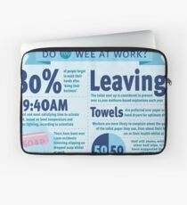 Wee at Work Infographic  Laptop Sleeve