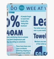 Wee at Work Infographic  iPad Case/Skin