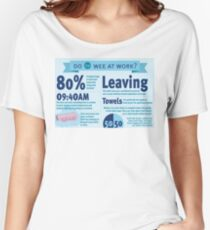 Wee at Work Infographic  Women's Relaxed Fit T-Shirt