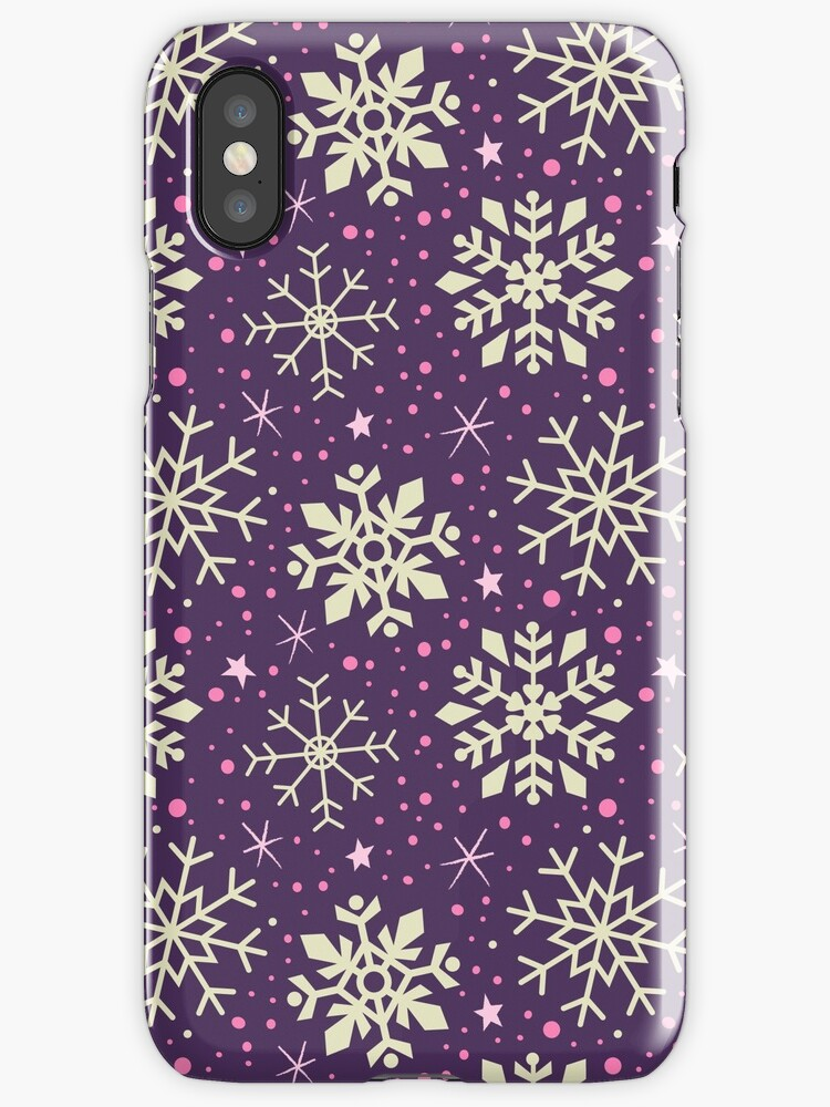 Christmas Snowflake Pattern (Purple) by KristyKate