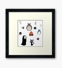Ghibli cuties Framed Print