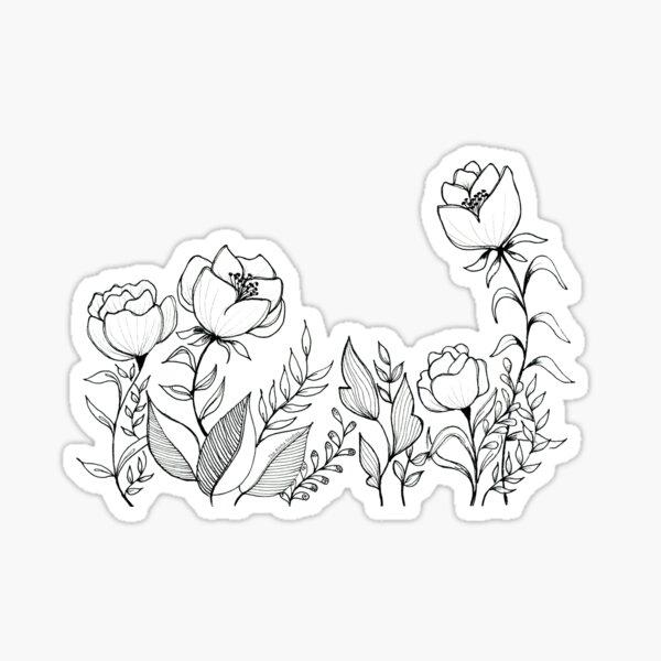 Happy flowers, by thealohastudios Sticker