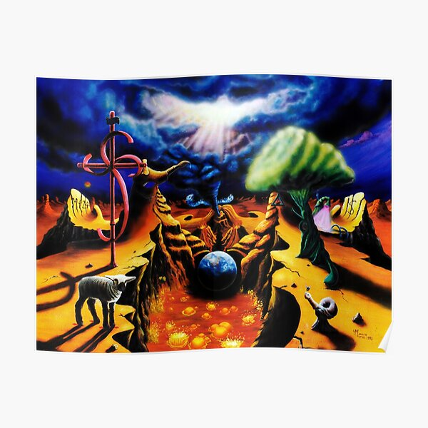 Psychedelic Visionary Surreal Trippy Art - Birth Pangs -  by Vincent Monaco Poster