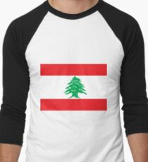 Flag of Lebanon Men's Baseball ¾ T-Shirt