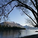 Queenstown silhouette by PhotosByG