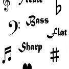 I ♥ Music (Style #2 - Black Writing) by C J Lewis