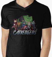 The Catvengers Men's V-Neck T-Shirt