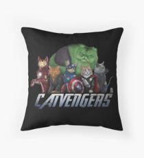 The Catvengers Throw Pillow