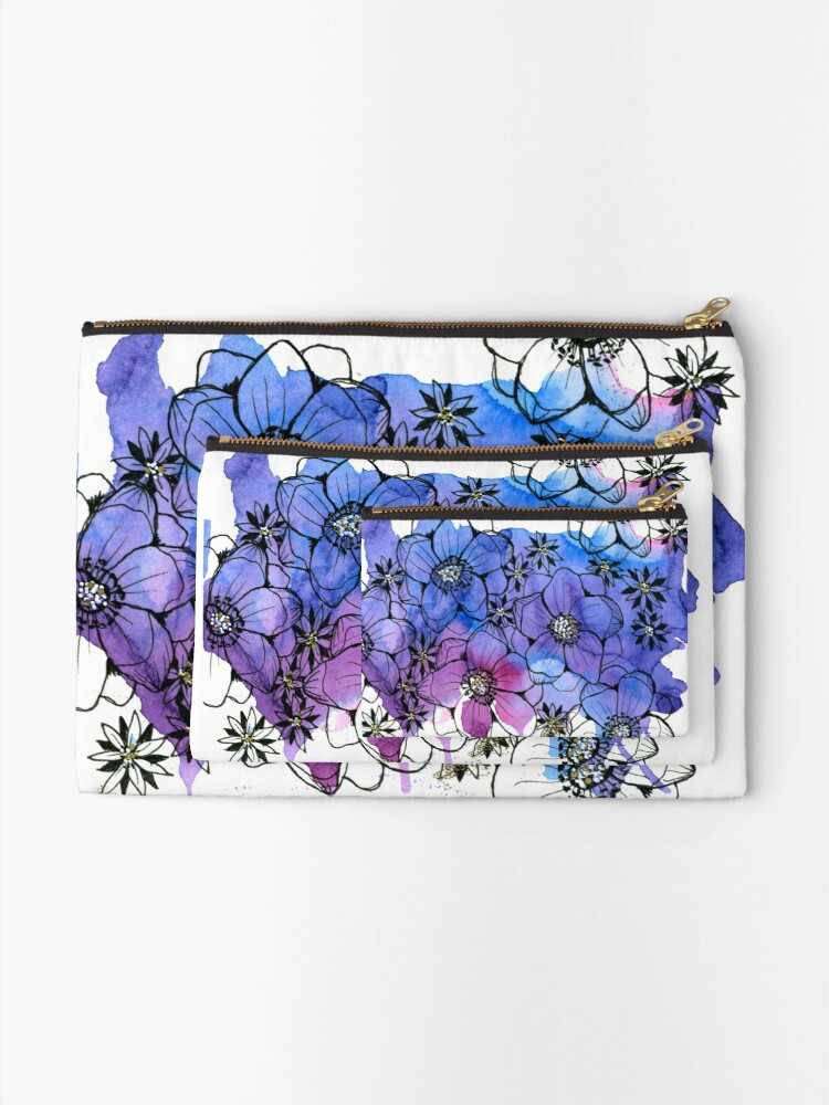 Alternate view of Aloha Flowers, by thealohastudios Zipper Pouch