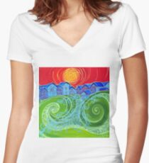 Village Green Women's Fitted V-Neck T-Shirt