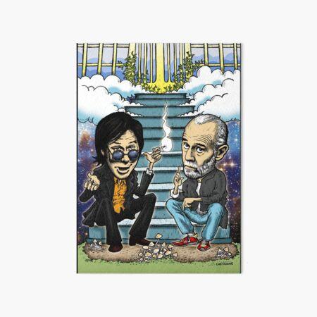 Bill Hicks and George Carlin Art Board Print