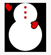 Funny Christmas Snowman Costume 2017 Greeting Gifts Photographic Print